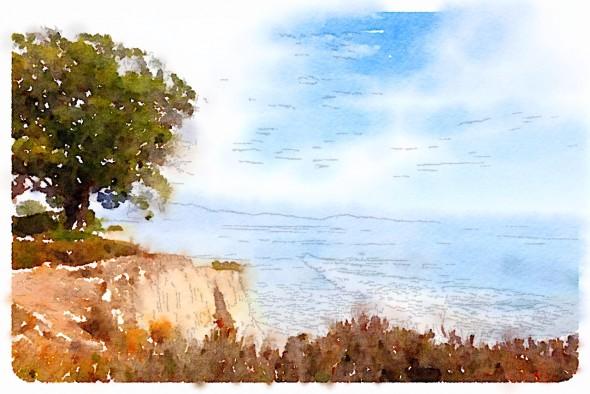 Waterlogue (3) shoreline view