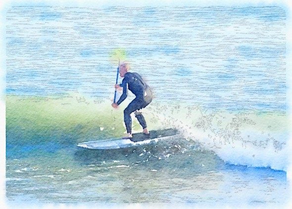Waterlogue (4) paddle surfer