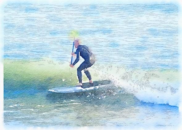 Waterlogue (4) paddle surfer